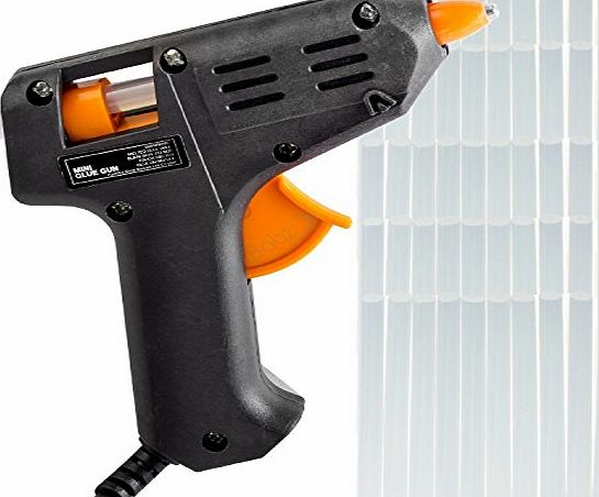 Amtech MINI GLUE GUN   50 GLUE STICKS HOT MELT GLUE GUN HOBBY CRAFT MINI GUN GLUE STICKS