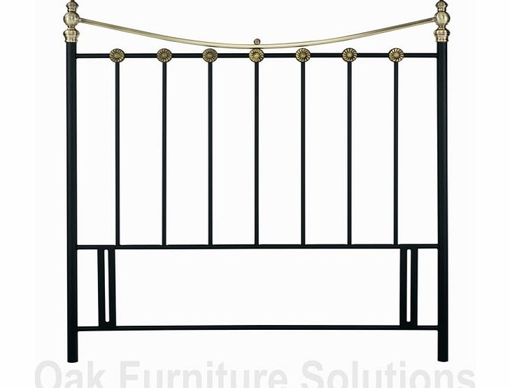 Matt Black/Antique Brass Headboard -