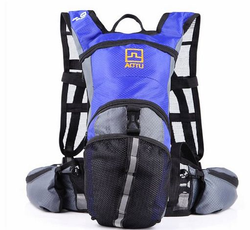 Cycling Bicycle Bike Sport Hiking Climbing Hydration Backpack Rucksack Water Pack Bag Orange