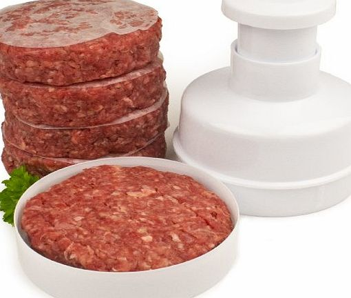 Hamburger Maker / Beefburger Press + 100 Wax Discs - Includes 2 Year Warranty - Ideal For Summer BBQs - Comes Apart For Easy Cleaning
