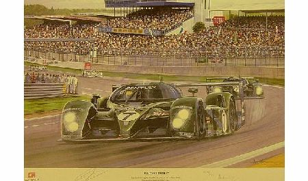 Le Mans 2003 Winners Bentley Signed Print
