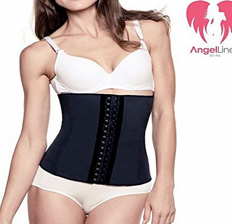 Angel Lines Waist Trainer Cincher Belly Vest - Reduce your size instantly - Black-XL
