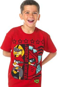 Boys Red Go T-Shirt - 10-11 Years