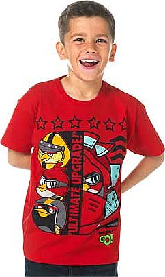 Boys Red Go T-Shirt - 6-7 Years