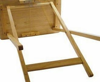 Anika 2 X Anika Rubberwood Folding Wooden TV Table With Wood Pine Finish - Ideal For T.V. Dinners