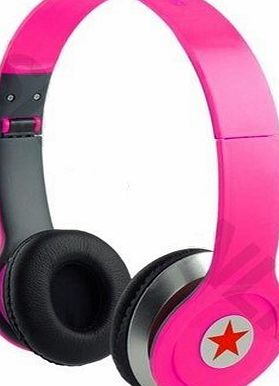 Anns HD Sound DJ Style SOLID BASS On-Ear Headphones SL-800 For MP3/MP4, iPod, iPhone, iPad, Tablets, Laptops, Smart Phones, Portable Media Player (Pink)