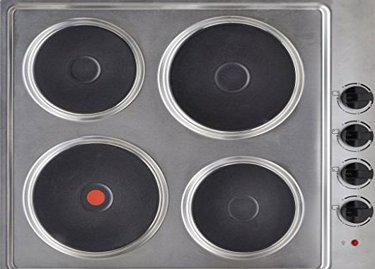 Anself Built-in Electric Hot Plate Hob 4 Burner Stainless Steel