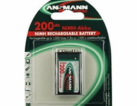 9V Fast Rechargeable Batteries - 200mAh