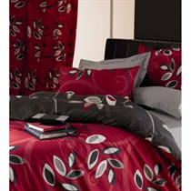 antigua Red Quilt Cover Set Double