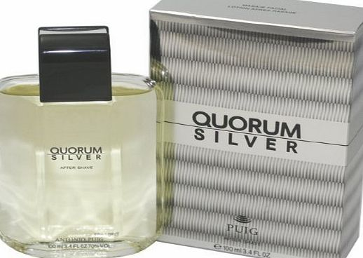 Antonio Puig Quorum Silver By Antonio Puig For Men. Aftershave 3.4 oz by Antonio Puig
