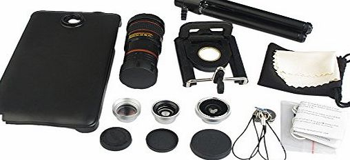4 in 1 Camera Lense Kit Includes 2 in 1 Wide Angle amp; Macro Lens, Fisheye Lens, 2x Telephoto Lens and 8x Zoom Telescope Lens for Samsung Galaxy Note 4