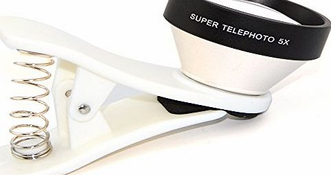 5x Super Telephoto Universal Clip on Lens for iPhone 4/4S/4G/5/5G/5S/5C/Samsung Galaxy S5/S4 I9500/S3 I9300/Note4/2/3/BlackBerry