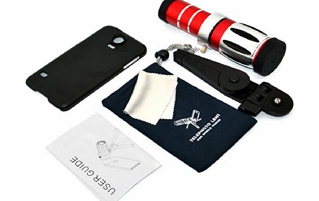 Phone Zoom Camera Lens 20x Metal Telescope/Telephoto with Tripod + Back Case for Samsung Galaxy S5 G900