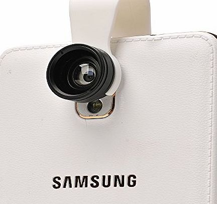 Pro-quality 2 in 1 Clip-on 0.67x Wide Angle + 10x Macro Camera Lens for iPhone 6/6 Plus/5S/5C/4S/4 Samsung HTC Sony LG iPad Tablets (No Dark Edges)