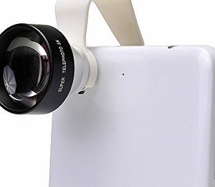 Universal Clip-on 5x Mini Telephoto Telescope Camera Lens for iPhone 6 6 Plus 5 5S 4 4S Samsung HTC Sony LG Phones Tablets