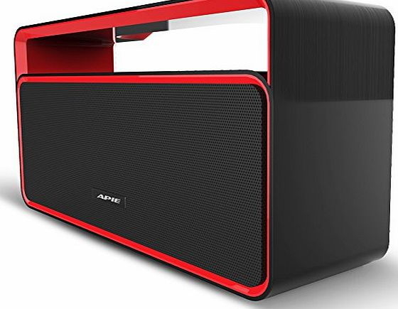 APIE Classic Sound Cannon Portable Wireless Bluetooth Stereo Speaker Powerful Sound with Enhanced Bass Surround BoomBox Subwoofer with FM Radio for Home and Outdoor Party Beach Picnic for All Bluetoot