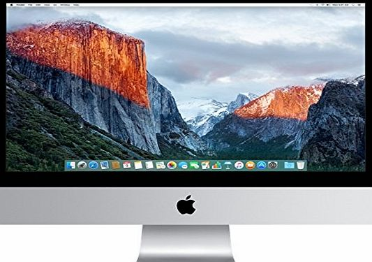 Apple iMac 21.5-inch Desktop (Intel Core i5 2.8 GHz, 8 GB RAM, 1 TB, Intel Iris Pro 6200, OS X) - Silver - 2015