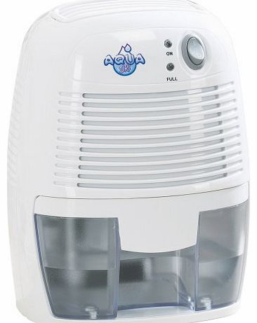 Aqua Dri Deluxe 500ml Portable Mini Compact Dehumidifier Mould Moisture Kitchen, Bedroom, Caravan, Garage - 60 Watts.