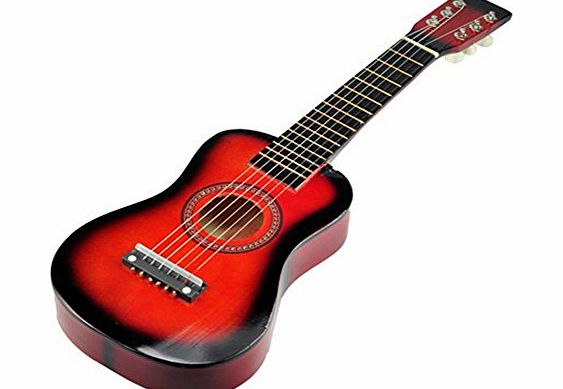 AQURE New Hifh quality 23 inch 6 Strings Mini Acoustic Guitar Fit for Children Red