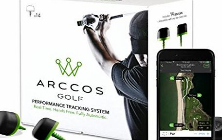 Arccos Golf Real-Time GPS and Golf Stat Tracking System (14-Sensor Pack)
