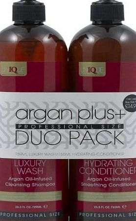 Argan Plus   Luxury Wash Shampoo 789ml and Hydrating Conditioner 765ml Duo Pack