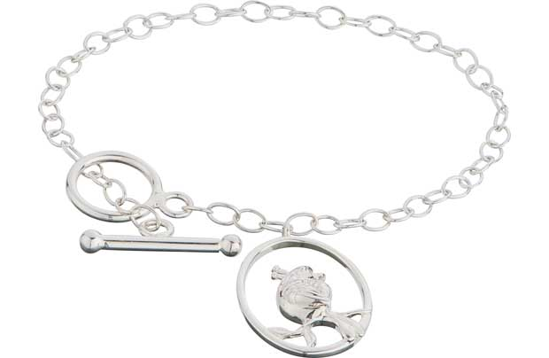 Sterling Silver Bird T-Bar Bracelet