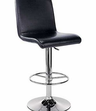 Argos Turner Black Leather Effect Seated Bar Stool