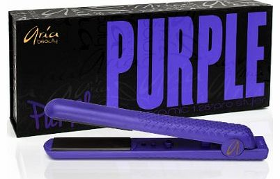 Aria Beauty 1.25-inch Ceramic Purple Hair Straightener