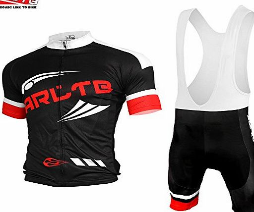 Arltb Cycling Jersey Cycling Clothing Suit Bib Shorts Set (6 Size 2 Color) Bicycle Bike Short Sleeve Jersey Padded Breathable Quick Dry Lightweight for Mountain Bike Road Bike MTB BMX Racing
