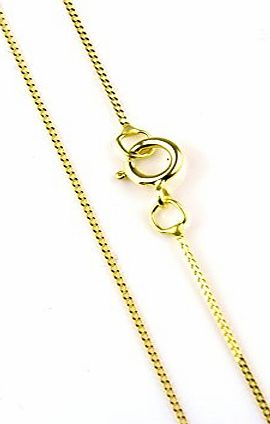 Arranview Jewellery 46cm/18inch Trace Chain Curb Style - 9ct Gold