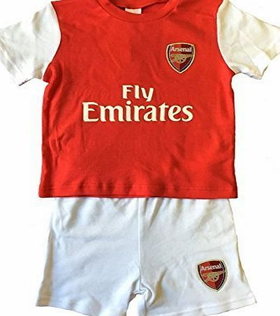 Arsenal F.C. Arsenal FC Baby Toddler Football Kit Shirt and Shorts Set (3 - 6 Months)