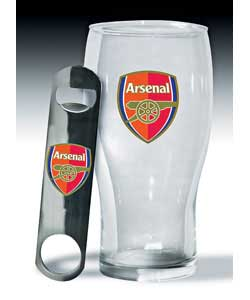 Pint Glass and Bottle Opener