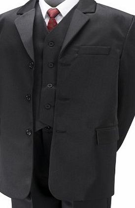 Aryan Boys Black Suit (5 piece) 11 year
