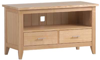 TV unit with 2 drawers and recess Prestbury