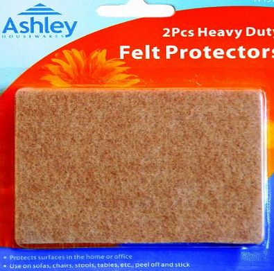 Ashley 2 Pack Heavy Duty Felt Protectors For use on Sofas, Chairs, Stools, Tables, etc. 95 mm x 68 mm