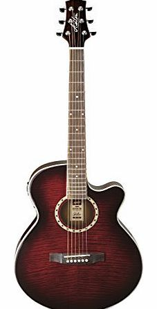 Sl29ceq Slim Line Electro Acoustic Guitar Wine Red