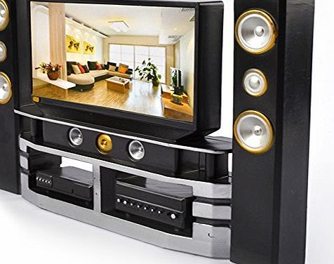 Asiv  Mini Hi-Fi TV Home Theater Cabinet Combo for Barbie Doll Accessories House Furniture Baby Toys