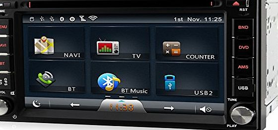 ASure 6.2 Double 2 Din Universal Car DVD Player Stereo GPS sat nav Navigation System