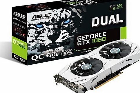 ASUS GeForce DUAL-GTX1060-6G 6 GB Graphics Card - Silver