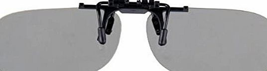 ASVP Shop Passive Universal 3D Flip Up Clip on Glasses for Prescription Eyewear for use with all Passive 3d Tvs Cinema and Projectors