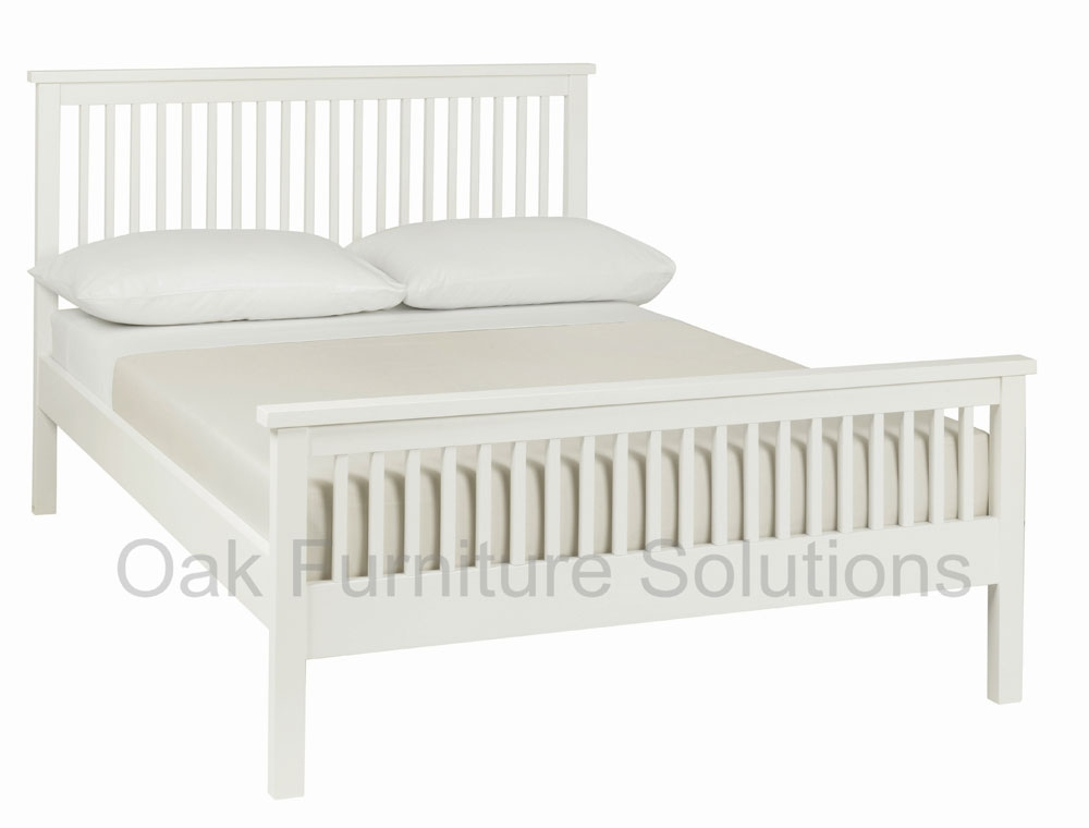 White High Footend Bedstead - 122cm -