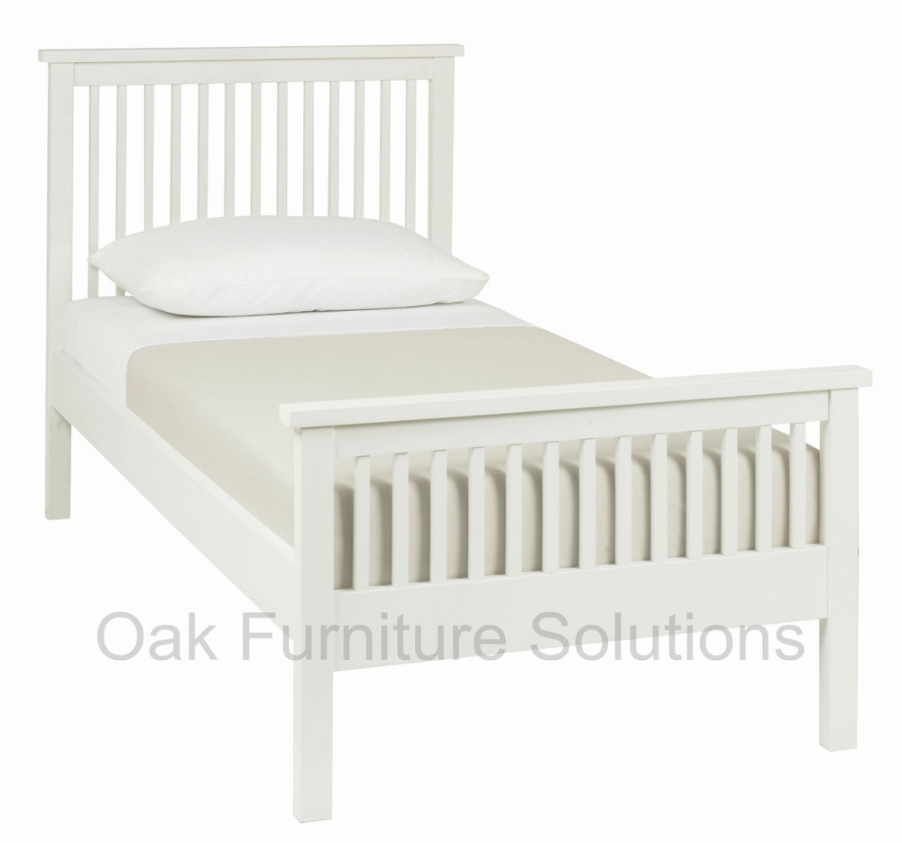 White High Footend Bedstead - 90cm -
