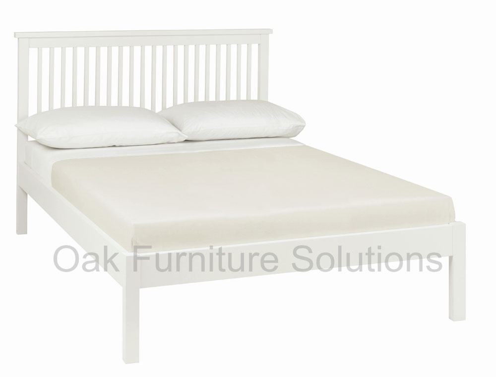 White Low Footend Bedstead - 135cm -
