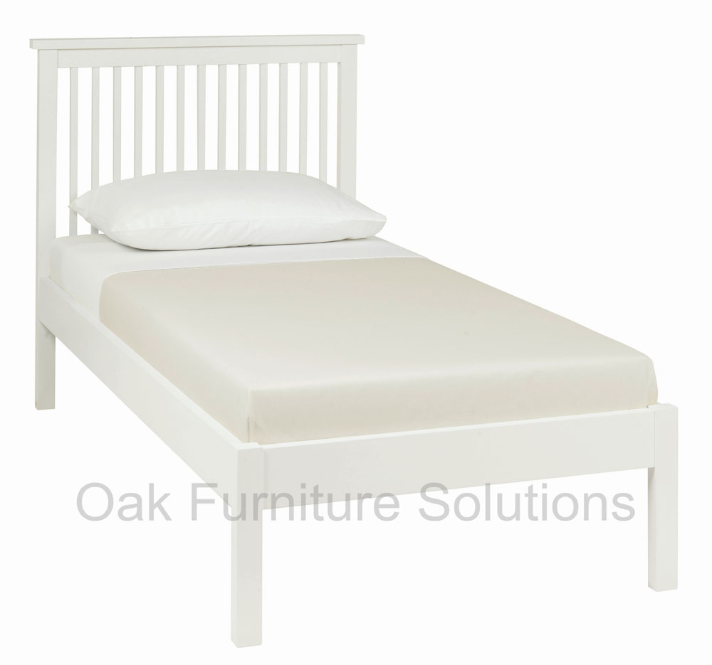 White Low Footend Bedstead - 90cm - Single