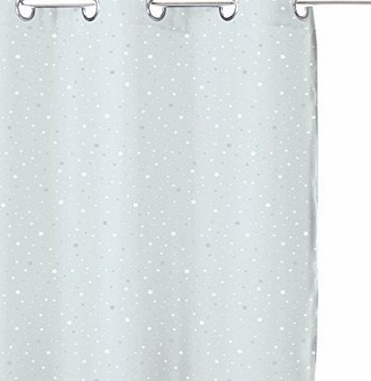 Atmosphera Blackout Curtain Grey Stars for Childrens Bedroom