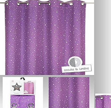 Atmosphera Curtain with Purple Star for Childrens Room