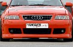 A3 Rieger Front Bumper Inc Mesh Plate for Fogs ABS