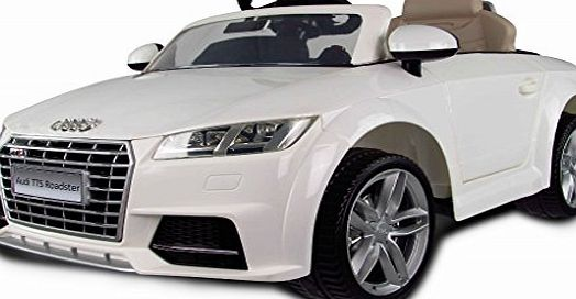 Audi White 6v Audi TT Roadster Kids Electric Car with Parental Remote Control