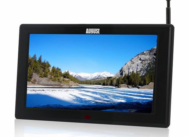 August DA100C - 10`` Portable Freeview TV - Small Screen LCD Television with Multimedia Player - Digital TV