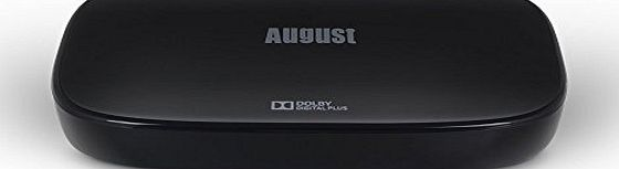 August Freeview HD and Smart TV Set Top Box - August DVB500 - Bluetooth DVBT/T2 Television Receiver with KODI / XBMC / Android Play Store